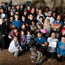 JAson Murphy with the Cast and crew of Monsters At Large
